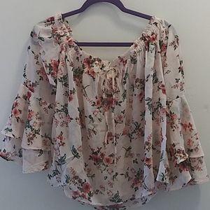 Plus size 3x sheer blouse floral